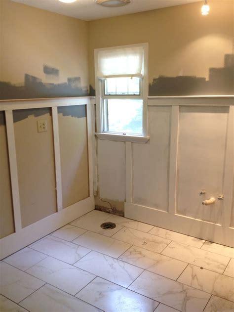 wainscoting  bathroom renovation  bathroom