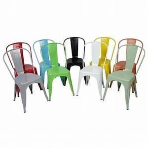 Chaise Metal Tolix : chaise metal loft achat vente chaise metal loft pas cher cdiscount ~ Teatrodelosmanantiales.com Idées de Décoration