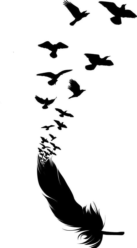 Feather with Birds Wall Decal by dunningvinyl on Etsy, $39