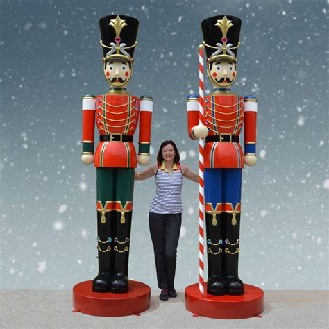 giant toy soldier statue  fiberglass figure