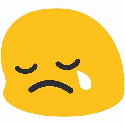Emoji Sad Crying Face Clipart Smiley Transparent