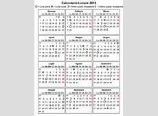 Calendario Lunare 2016 La Gravidanza