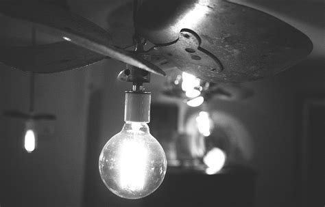 black  white lights light bulb idea hd grayscale