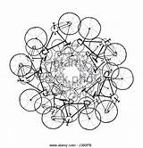Chain Drawing Bike Vector Illustration Bicycles Bicycle Getdrawings Hike Alamy Line Pencil sketch template