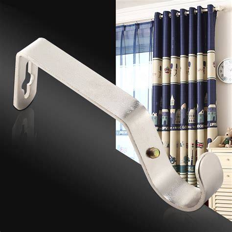set of 3 pcs heavy duty metal curtain rod pole wall