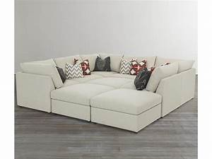 Sofa pit sofa large sectional tan leather sofas with thesofa for Modular pit sectional sofa