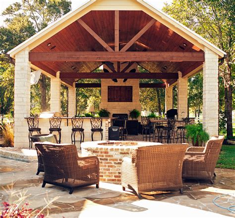 Outside Patio Designs by Mcbeth Outdoor Living Traditional Patio Houston By