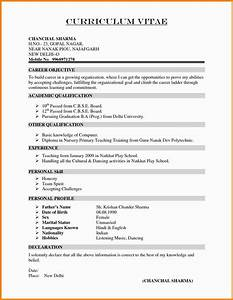 Model Resume Format For Experience Curriculum Vitae For Teachers Resume Fresher Format Unique