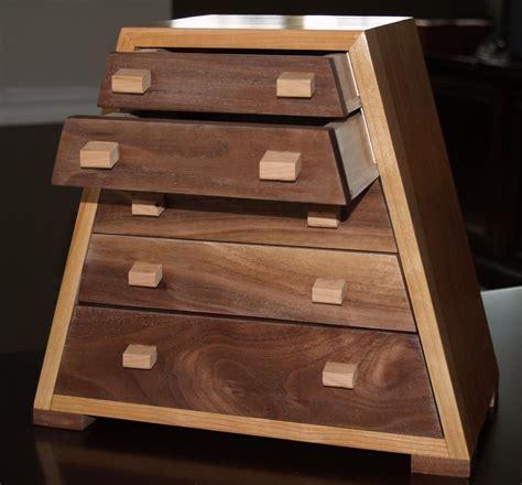 custom  solid cherry  black walnut jewelry box