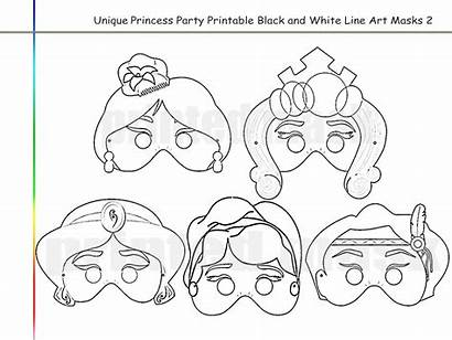 Coloring Princess Printable Mask Masks Jasmine Aurora
