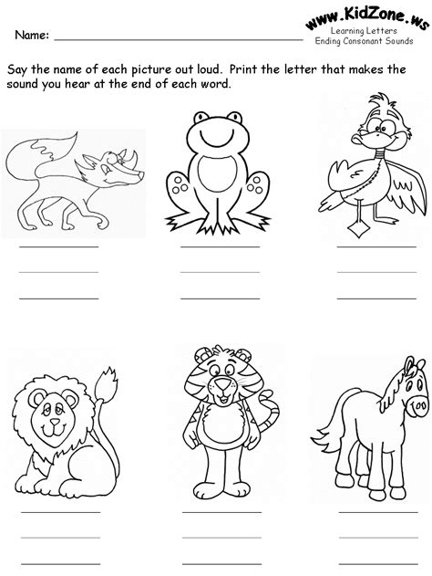 consonants review worksheets