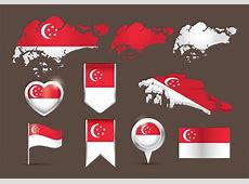 Flag Singapore Map Vector Download Free Vector Art