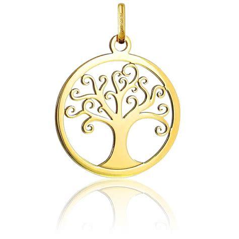 m 233 daille ronde arbre de vie en or jaune ajour 233 ocarat