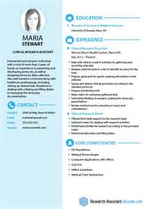 clinical research assistant resume objective biomedical engineering cover letter exles biomedical