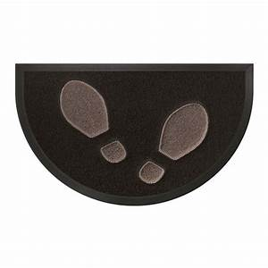 tapis d39entree demi lune empreintes noir taupe tapis d With tapis demi lune