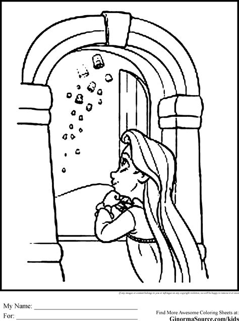 rapunzel tower coloring page  getcoloringscom