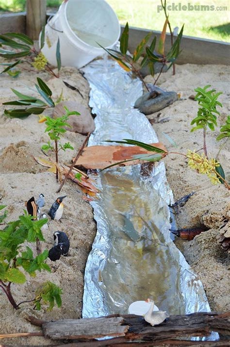 how is sand that flows in a river formed make a river easy imaginative play in the sand pit