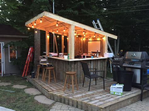 woodworking plans   secret garden patio bar bar