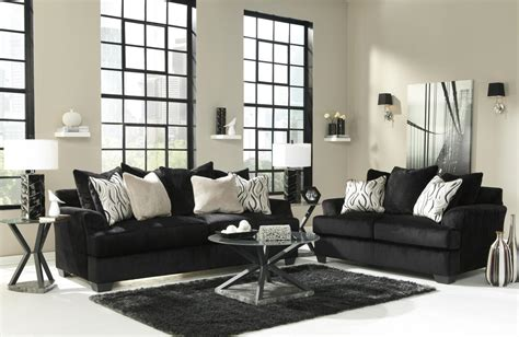 Black Fabric Loveseat by Signature Design By Heflin 4720038 4720035 Black