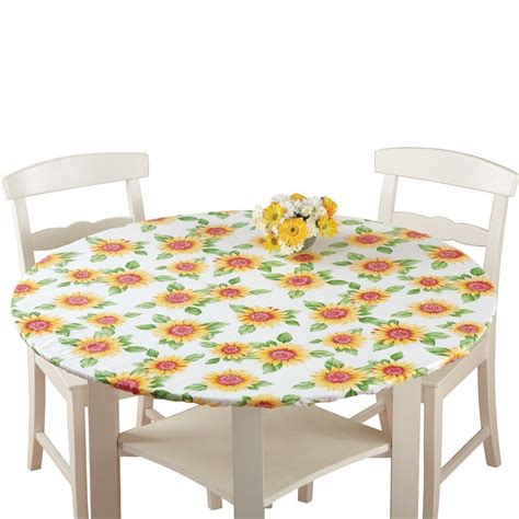 round elastic table covers fitted elastic table cover sunflower round