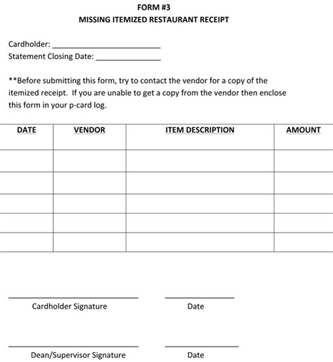 itemized receipt template  samples formats  word