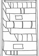 Template Bookmark Bookshelf Templates Shelves Coloring Sampletemplatess Sample Sketch sketch template