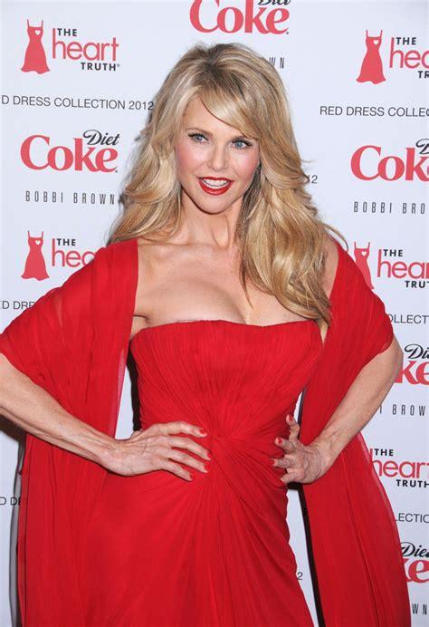 christie brinkley  celebs   heart truths red dress