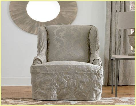 Slipcovers For Wing Chairs The Silver Chair Book Natural Rocking Steamer Cushion Covers Sling Chaise Lounge Chairs Sears Bean Bag Modern Office Guest Black Wishbone With Ottoman