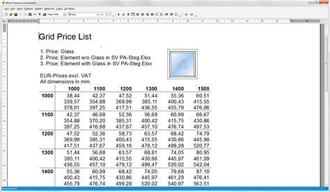 Price Of by Grid Price List Orgadata Helpdesk En