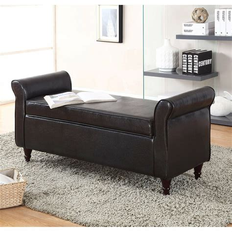 storage ottoman with arms new ottoman footrest sofa shoe storage bench tufted seat