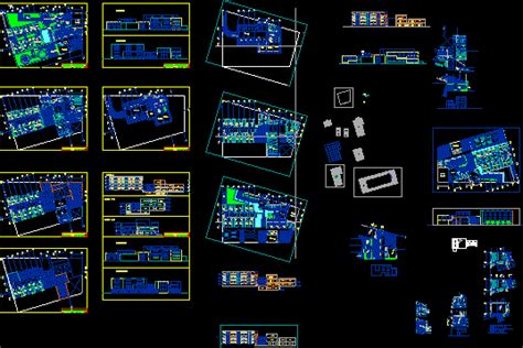 nursing home project  autocad cad   mb