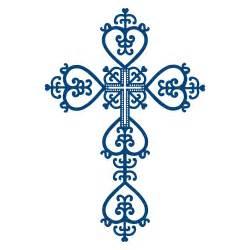 Blue Baptism Cross Clip Art