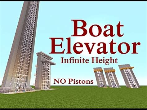 Minecraft Boat Piston by Minecraft Tutorial Boat Elevator No Pistons Any Height
