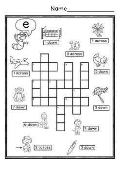 cvc simple crossword puzzles crossword puzzles word