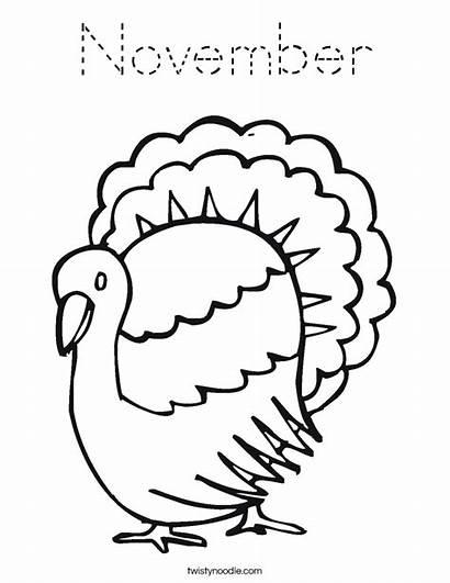 Coloring November Thanks Give Turkey Printable Noodle