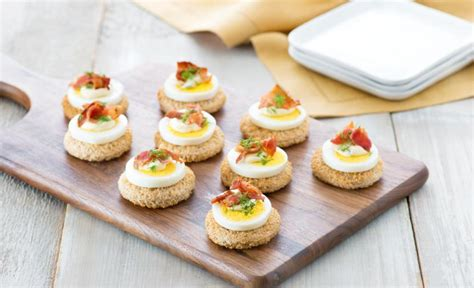 canapé oeuf recipes egg and bacon canapés eggs ca