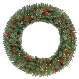 60 in battery operated winslow artificial wreath with 240 clear led lights gd50p4598l00 the