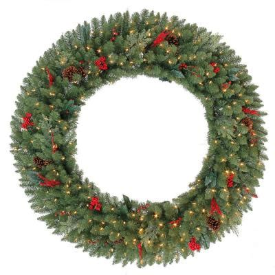 60 in battery operated winslow artificial wreath with 240