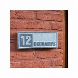 Plaque Numero De Rue : plaque num ro de rue en pierre naturelle applique 1 avec ~ Melissatoandfro.com Idées de Décoration