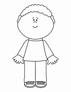 Child Clipart Black And White - Clip Art Magic