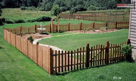 Virginian Wood Picket Fence