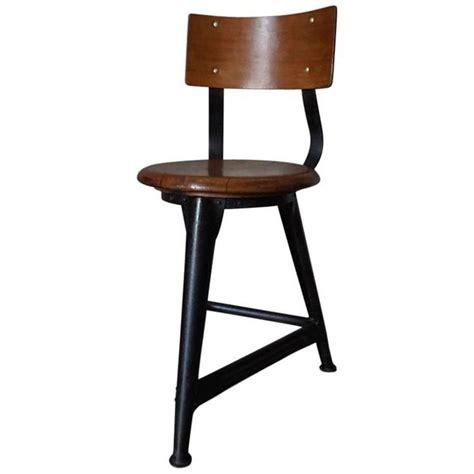 vintage german industrial stool chair in style of rowac