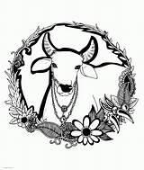 Coloring Adults Cow Printable Animal Animals Adult Colouring Sheets sketch template