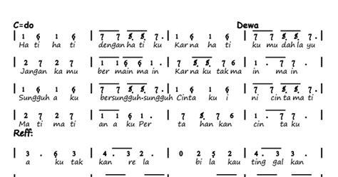 not angka lagu asal kau bahagia di pianika not angka pianika lagu cinta gila dewa 19
