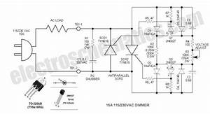 scr phase control dimmer circuit basic circuit circuit With twowire dimmer switch for lowpower loads on wiring hpm dimmer switch