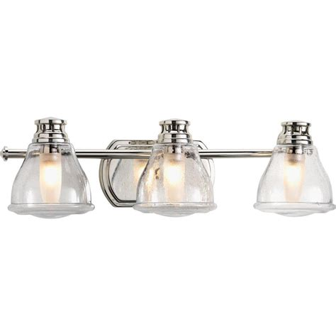 Halogen Bathroom Light Fixtures by Progress Lighting Academy Collection 3 Light Polished
