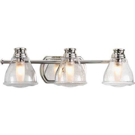bathroom flooring options ideas progress lighting academy collection 3 light polished