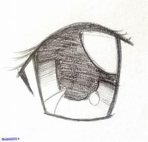 Anime Drawings In Pencil Easy Eyes - Drawing Artistic