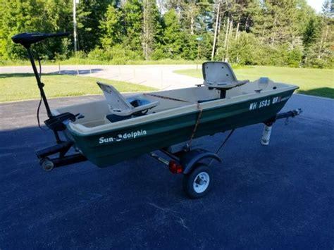 Used Sun Dolphin Bass Boat For Sale by 2004 Sun Dolphin 12 Jon Bass Boat 36lb Minn Kota Motor