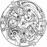 Clock Drawing Luxury Swiss Watchonista Tattoo Zenith Watches sketch template